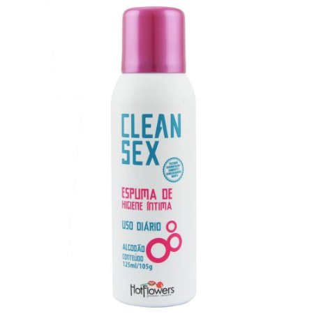 Clean Sex  Espuma de higiene íntima Uso Diário 125ml Hot Flowers