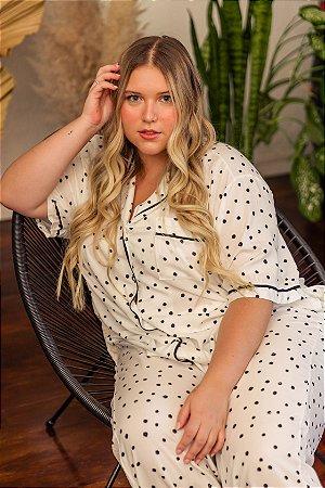 Pijama Longo de Viscose P&B