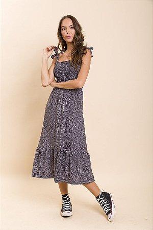 Vestido Midi Lastex Eva P&B