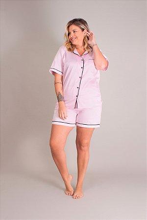 Pijama Curto Rosa Jana