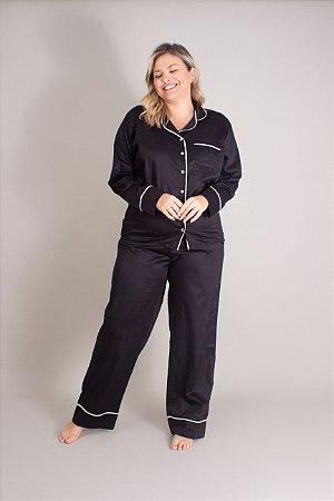Pijama Longo Preto Naíla