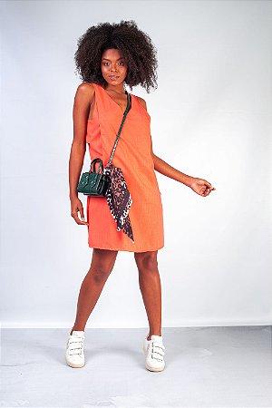 Vestido de Linho Romana Coral