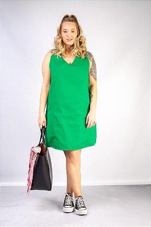 Vestido de Linho Romana Verde