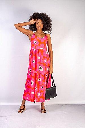 Vestido Midi Flora Estampado
