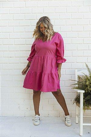 Vestido de Linho Pink