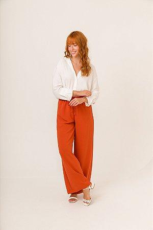 Calça Pantalona Terracota Nina