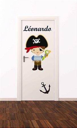 Adesivo de porta infantil-Pirata