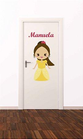Adesivo de porta infantil-Bella