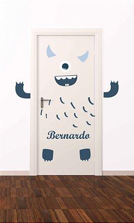 Adesivo de porta infantil-Monstro