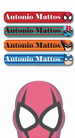 Mini Etiquetas Escolares 72 unidades - Super Heróis