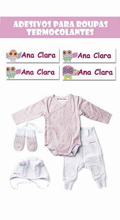 Etiquetas Termocolantes-Coruja Baby