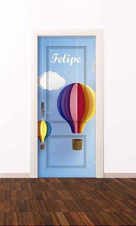 Adesivo de porta infantil-Baloeiro