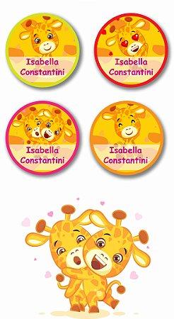 Etiquetas Personalizadas para utensílios 40 unidades - Girafa