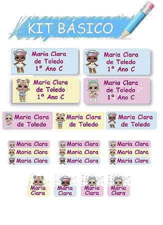 Etiquetas escolares Kit Basico - LOL 118 etiquetas