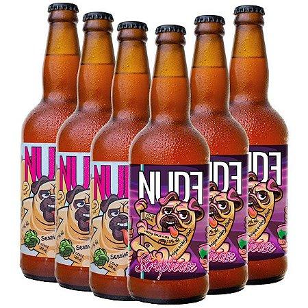Cerveja Nude Session IPA e Straptease, Pack 06 Unidades