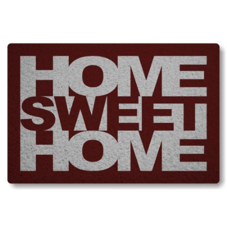 Tapete Capacho Home Sweet Home - Bordo
