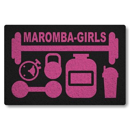 Tapete Capacho Maromba-Girls - Preto