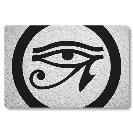 Tapete Capacho Olho de Horus - Branco