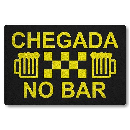 Tapete Capacho Chegada no Bar - Preto