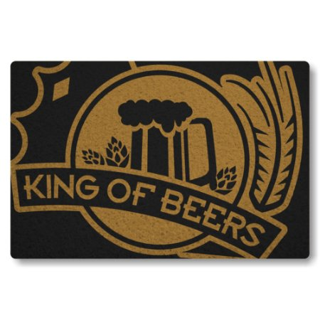 Tapete Capacho King Of Beers - Preto