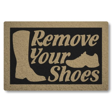 Tapete Capacho Remove Your Shoes - Preto
