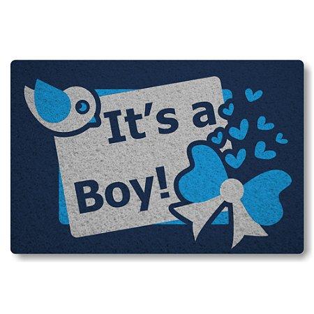 Tapete Capacho Its a Boy - Azul Marinho