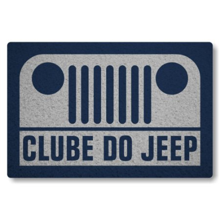 Tapete Capacho Clube do Jeep - Prata