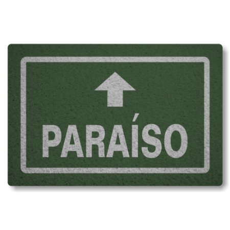 Tapete Capacho Paraiso - Verde Musgo
