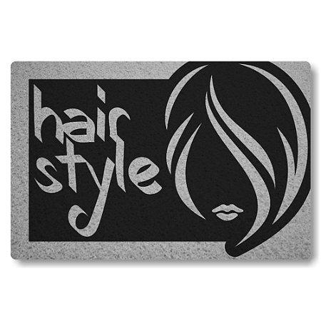 Tapete Capacho Hair Style - Preto