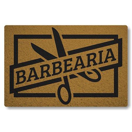 Tapete Capacho Barbearia - Ouro