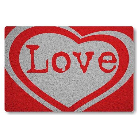 Tapete Capacho Love - Vermelho