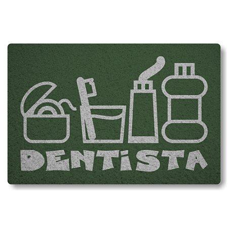 Tapete Capacho Dentista - Verde Musgo