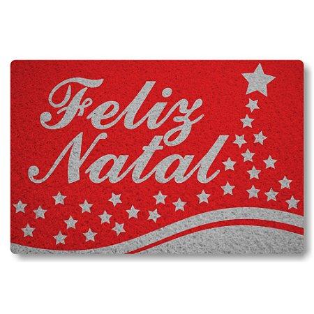 Tapete Capacho Feliz Natal - Vermelho