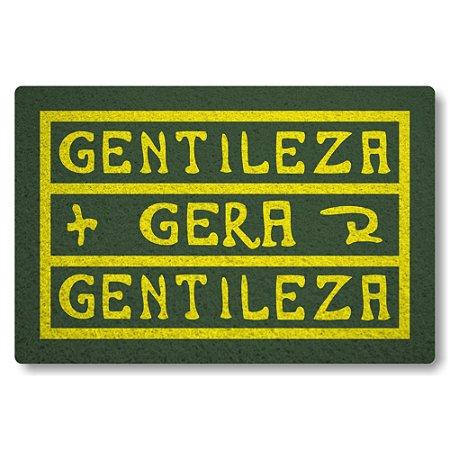 Tapete Capacho Gentileza Gera Gentileza - Verde Musgo