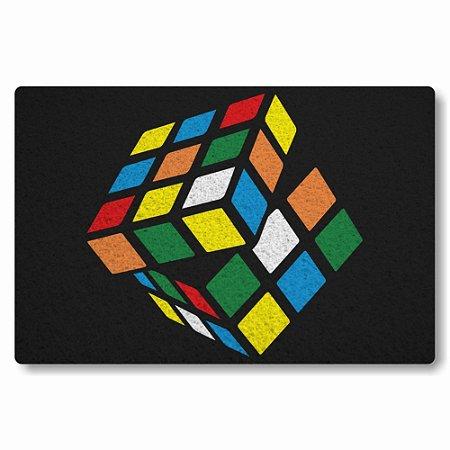 Tapete Capacho Cubo Magico - Preto