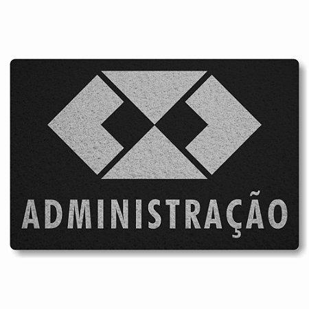 Tapete Capacho Administracao - Preto