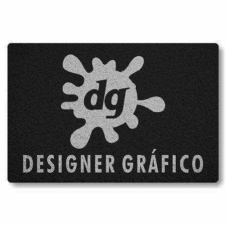 Tapete Capacho Designer Grafico - Preto