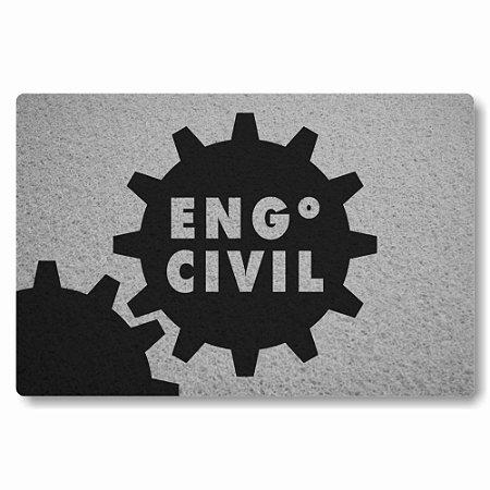 Tapete Capacho Engenheiro Civil - Prata