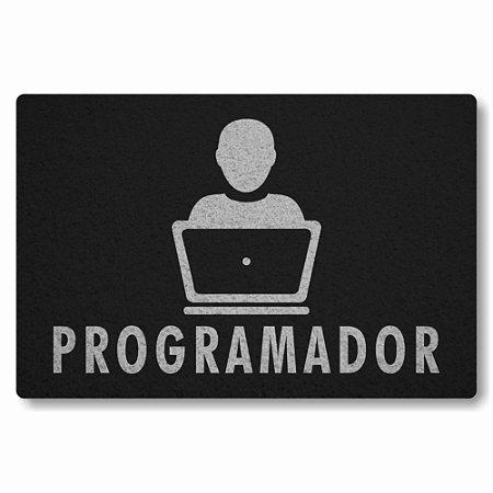 Tapete Capacho Programador - Preto