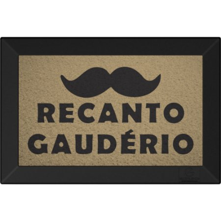 Tapete Capacho Recanto Gauderio Bege