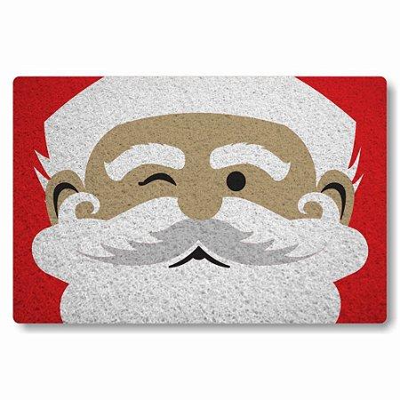 Tapete Capacho Rosto do Papai Noel