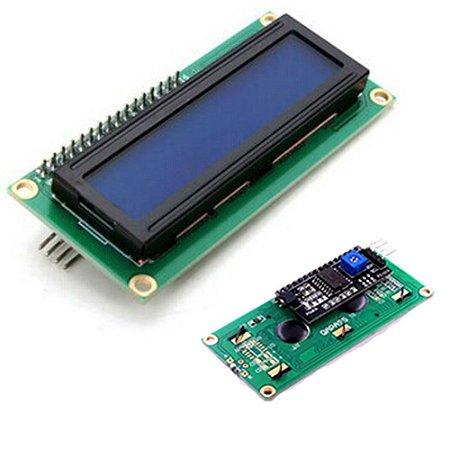 Display LCD 16×2 Com I2C Backlight Azul