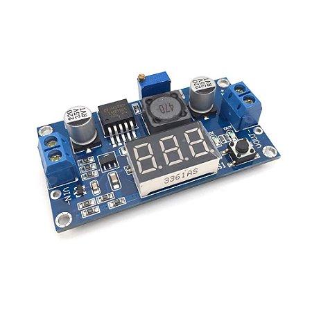 Regulador De Tensão Ajustável Step-Down LM2596 com Voltímetro
