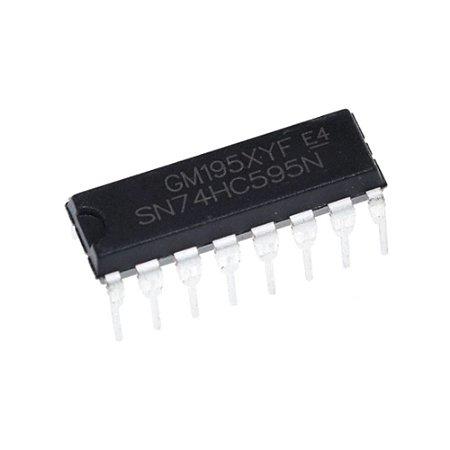 CI 74HC595 Shift Register Expansor de Portas I/O