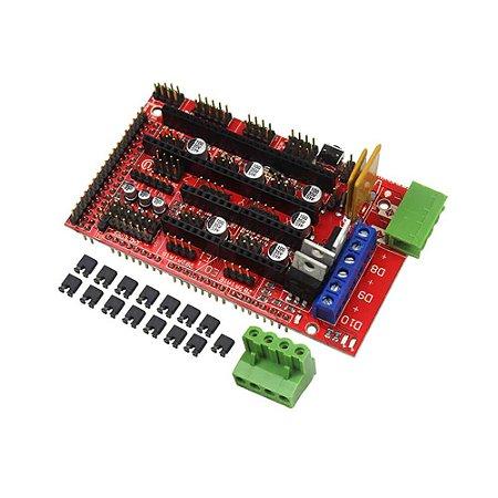 Shield Ramps 1.4 Impressora 3D para Arduino Mega