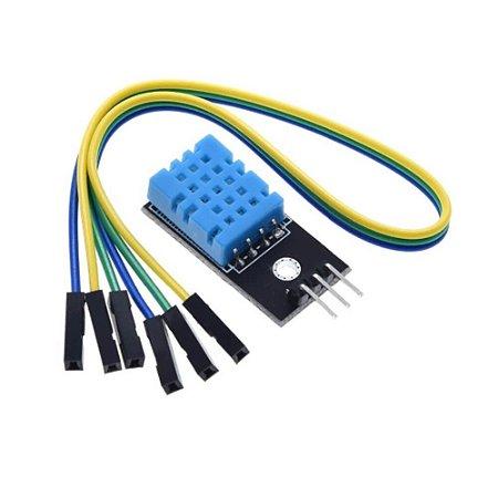 Módulo Sensor de Temperatua e Umidade DHT11 + Jumpers