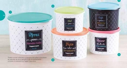 Tupperware Pote Bistrô Kit 5 Peças