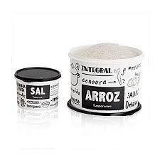 Tupperware Caixa Par Perfeito Arroz + Sal PB kit 2 peças