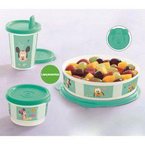 Tupperware Copo com Bico + Pratinho + Potinho Baby Disney Kit 3 peças