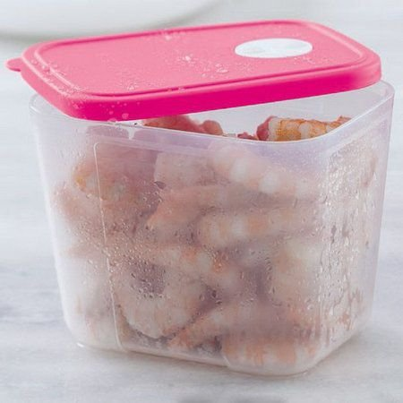 Tupperware Freezertime 1 litro Transparente tampa Rosa